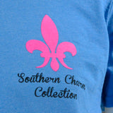 Southern Charm Collection Bulldog on a Sapphire Short Sleeve T Shirt