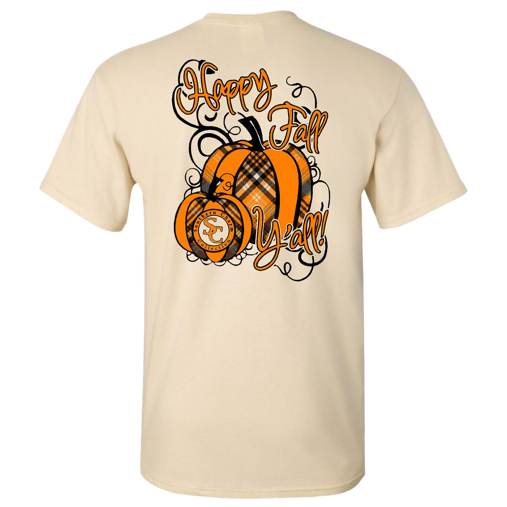 Happy Fall Yall Southern Charm Collection on a Light Tan T Shirt