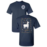 Fa - La La - La  Llama Southern Charm Collection on a Black Short Sleeve T Shirt