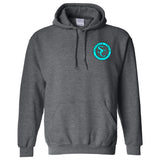 Southern Charm Collection Official Logo on a Dark Heather Hoodie