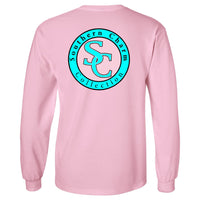 Southern Charm Collection Official Logo on a Long Sleeve Light Pink T Shirt