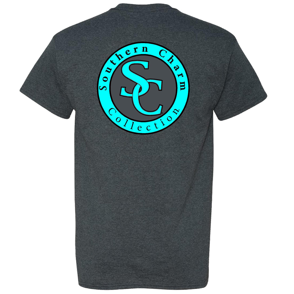 Southern Charm Collection on a Dark Heather Short Sleeve T Shirt