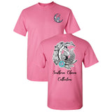 Fox on the Moon Southern Charm Collection on a Light Pink Short Sleeve T Shirt