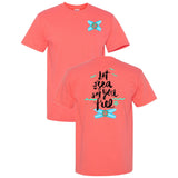 Let the Sea Set You Free Southern Charm Collection on a Coral Shirt