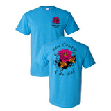 Southern Charm Collection Courage on a Sapphire Short Sleeve T Shirt