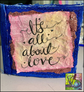 It's all about LOVE! mini journal class by Rita Barakat
