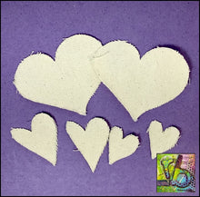 Load image into Gallery viewer, Canvas Die Cuts Hearts Cut Shapes