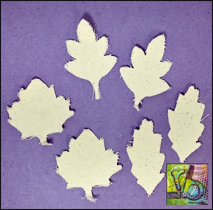 Canvas Die Cuts Leaves Cut Shapes
