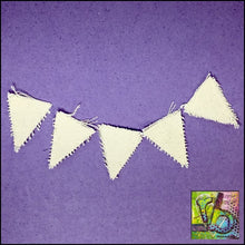Load image into Gallery viewer, Canvas Die Cuts Mini Pennants Cut Shapes
