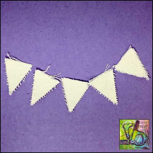 Canvas Die Cuts Mini Pennants Cut Shapes