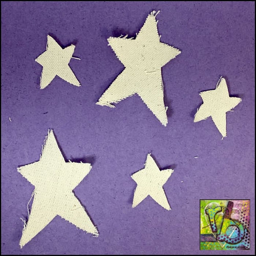 Canvas Die Cuts Mini Stars Cut Shapes