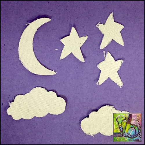 Canvas Die Cuts Moon Stars Clouds Cut Shapes