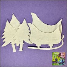 Load image into Gallery viewer, Canvas Die Cuts Sleigh Ride Cut Shapes
