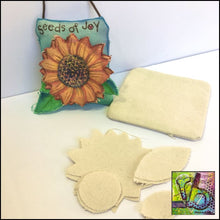 Load image into Gallery viewer, Canvas Die Cuts Sunflowers Cut Shapes