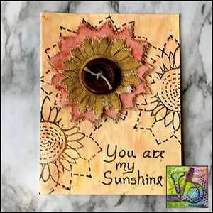 Canvas Die Cuts Sunflowers Cut Shapes