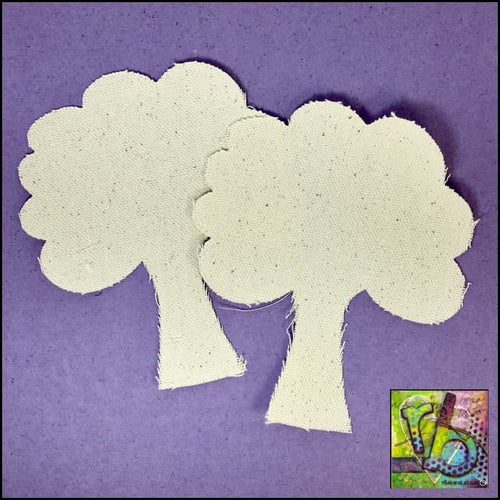 Canvas Die Cuts Trees Cut Shapes