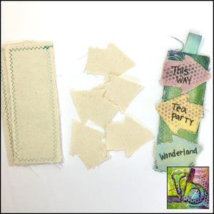 Canvas Diy Bookmarks (2) Die Cut Shapes