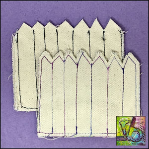 Canvas Diy Fence Die Cut Shapes