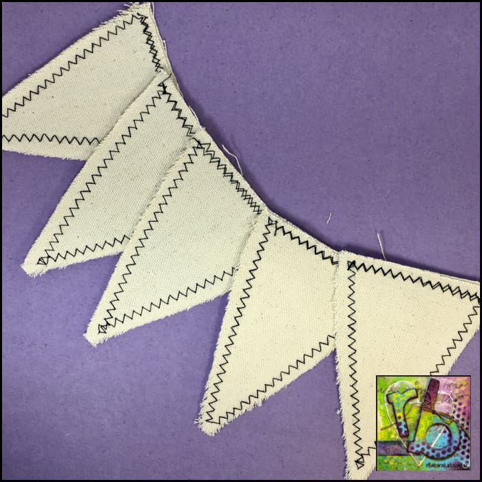 Canvas Diy Large Pennants Die Cut Shapes