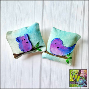 Canvas Diy Mini Pillows (2) Die Cut Shapes