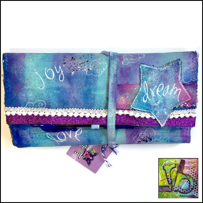 Canvas Diy Travel Journal Cover Mixed Stitch Art Journals