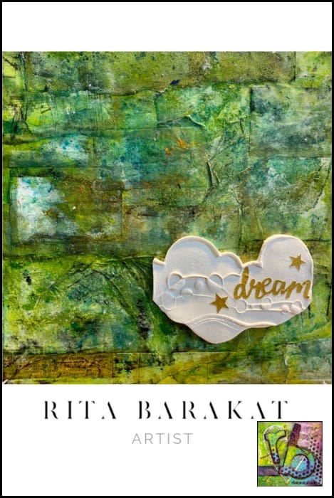 Dream original mixed media painting by Rita Barakat