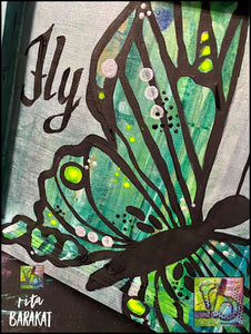 Fly - Butterfly Painting Class Kit Workshop