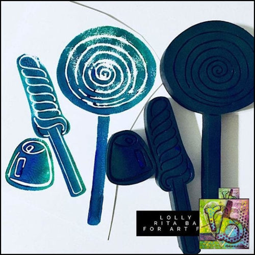 Foam Art Stamp Candy & Lollipops (Set Of 3)