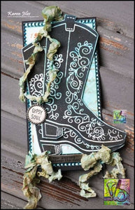 Foam Art Stamp Cowboy Boot