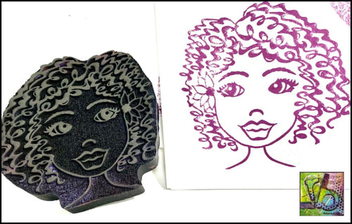 Foam Art Stamp Curly Q Fairy