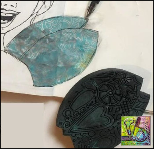 Foam Art Stamp Fairy Wings