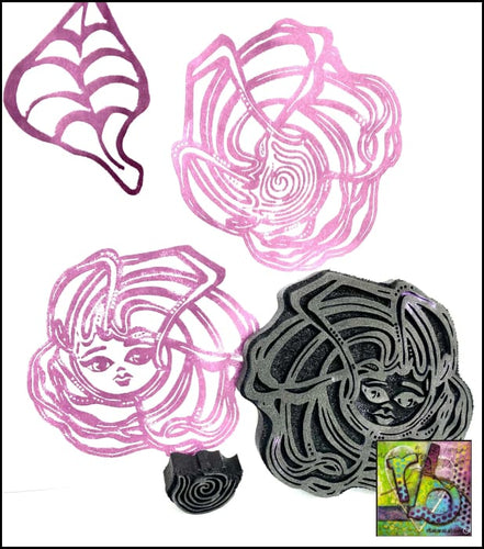 Foam Art Stamp Flower Baby Rose