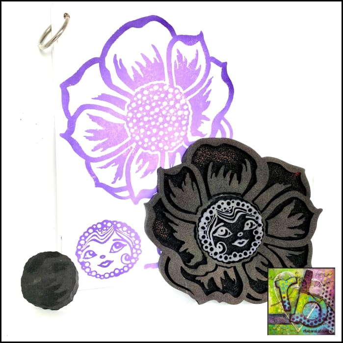 Foam Art Stamp Flower Buttercup