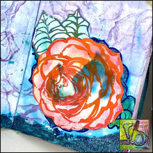 Load image into Gallery viewer, Foam Art Stamp Flower Rose