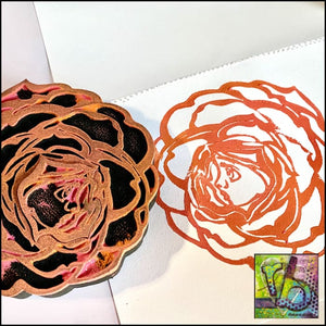 Foam Art Stamp Flower Rose