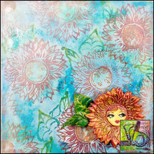 Load image into Gallery viewer, Foam Art Stamp Flower Sunflower