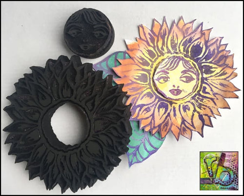 Foam Art Stamp Flower Sunflower