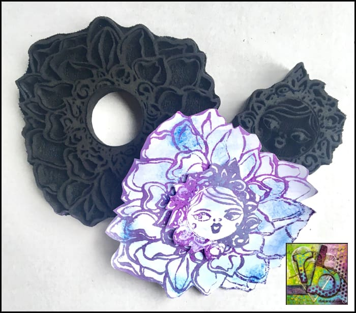 Foam Art Stamp Flowers Dahlia
