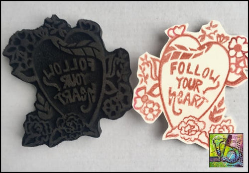 Foam Art Stamp Follow Your Heart