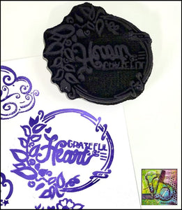 Foam Art Stamp Grateful Heart