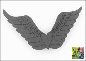 Foam Art Stamp Heart Wings