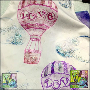 Foam Art Stamp Hot Air Balloon