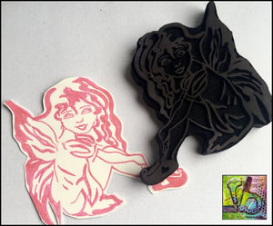 Foam Art Stamp Sitting Fairy