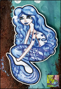 Foam Art Stamp The Blue Mermaid