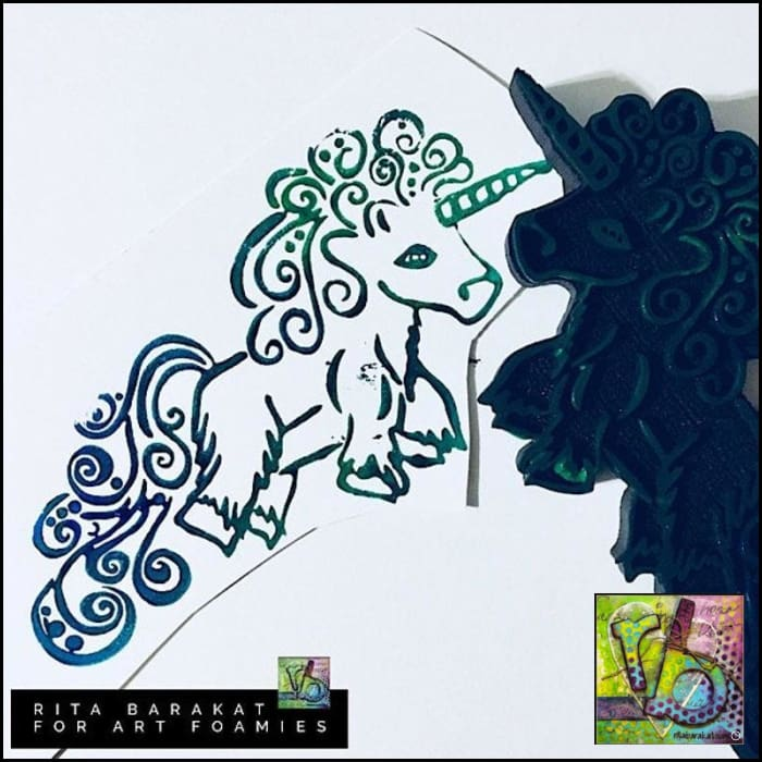 Foam Art Stamp Unicorn