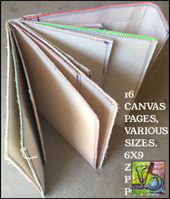 Load image into Gallery viewer, Mixed Stitch Canvas Art Journal Large Journals