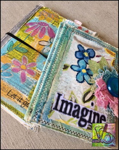 Mixed Stitch Canvas Art Journal Large Journals