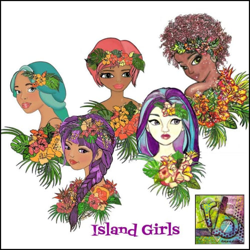 Paper Ephemera Island Girls Die Cuts