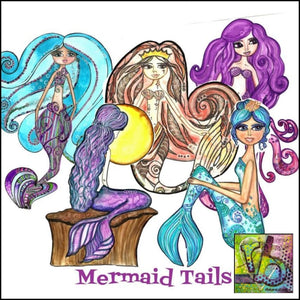 Paper Ephemera Mermaid Tails Die Cuts