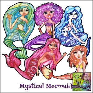 Paper Ephemera Mystical Mermaids Die Cuts